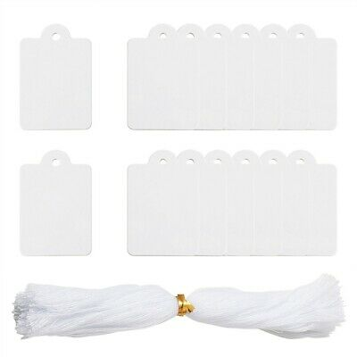500pcs White Jewelry Price Tags Clothing Blank Display Tag Diy Gift Message Card