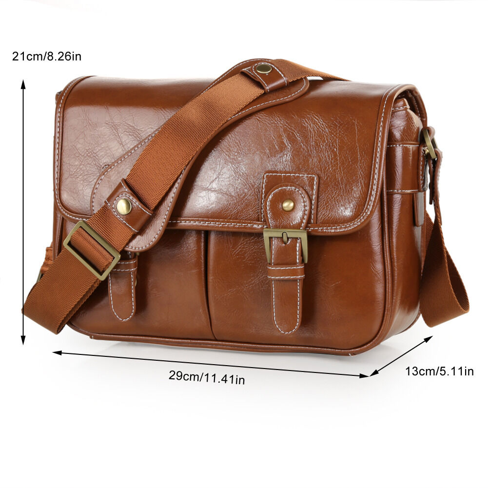 Koolertron Waterproof Vintage PU Leather DSLR Camera Bag ...