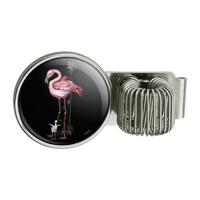 Pink Flamingos Palm Tree Pen Holder Clip For Planner Journal Book