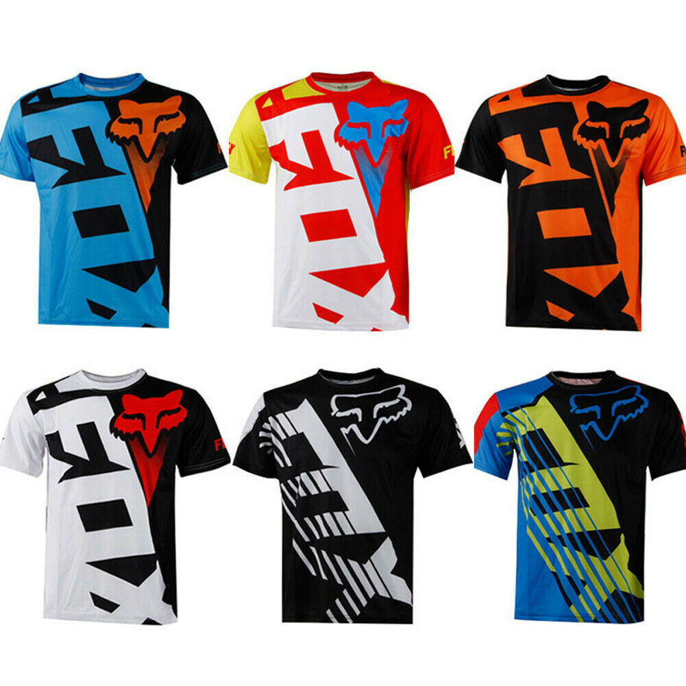 FOX Men Riding Jersey Short Sleeve T-shirts Motocross/MX/ATV