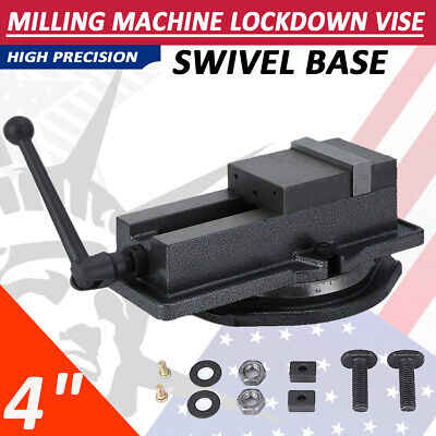 4 Lock Type Milling Machine Vise Drilling Bench Clamping Vice W 360base New