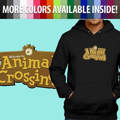 Animal Logo Sweatshirt (Nintendo Animal Crossing Logo Sign Title Game Pullover Sweatshirt Hoodie)
