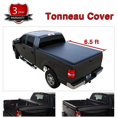 Tonneau Cover Soft Roll-Up For Ram 10-18 1500 2500 3500 19 Classic 6.5' Bed