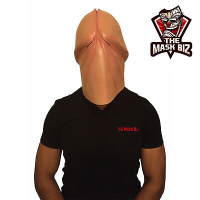 The Mask Biz Penis Head Dick Mask Latex Animal Prank Party Costume Funny Crazy ](Funny Animal Masks)