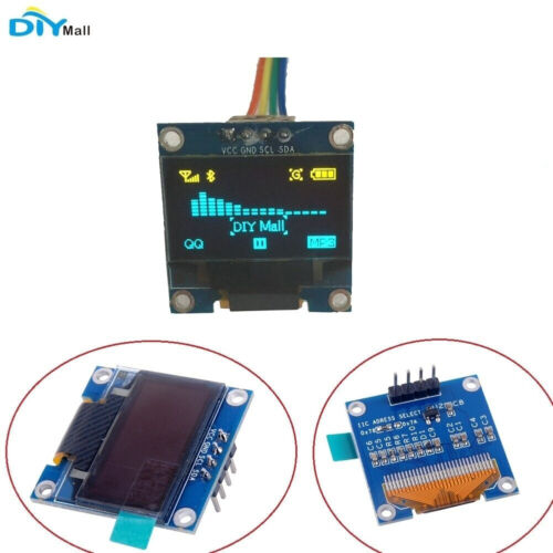"""DIYmall  Yellow and Blue 0.96"""" Inch IIC Serial 128X64 OLED D"""