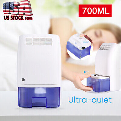 700ML Mini Quiet Electric Home Drying Moisture Absorber Air Room Dehumidifier US