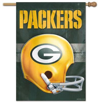 Throwback Vertical Flag - Green Bay Packers 28X40 NFL Helmet Flag Vertical Banner Retro Throwback
