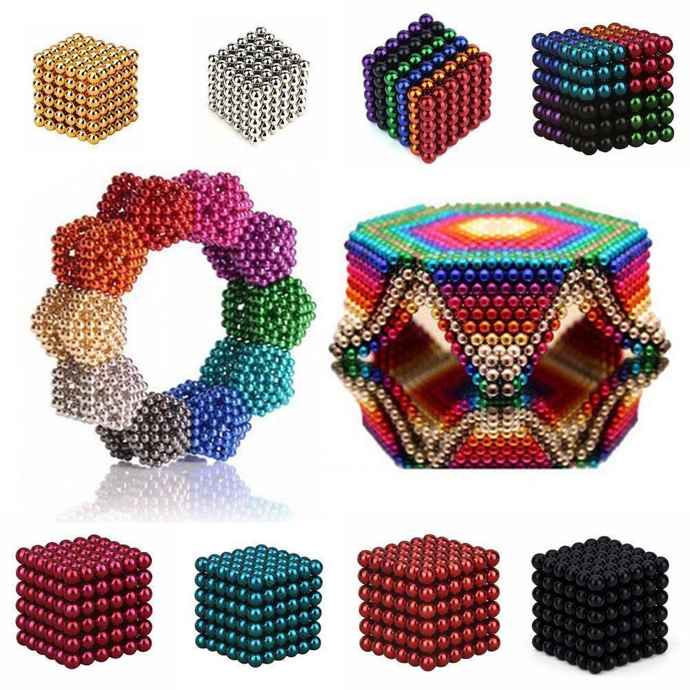 3D Magie Magnet Magnetische Blöcke Bälle Kugel Würfel Perlen Gebäude Spielzeug