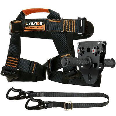 Fusion Tactical Pro Zip Line Kit Harness/Lanyard/Trolley FTK-A-HLT-11