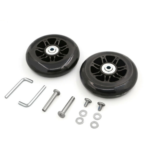 2 Set OD 90mm Luggage Suitcase Replacement Wheels Axles Repa