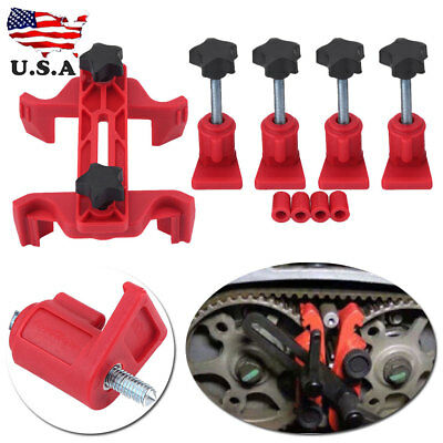 5Pcs Universal Dual Cam Clamp Camshaft Timing Sprocket Gear Locking Tool Kit (Camshaft Tool)