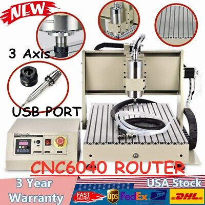 Usb Cnc Router 3 Axis 6040 Engraver Engraving Milling Drilling Machine 1.5kw
