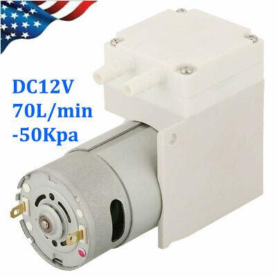 Dc 12v Mini Vacuum Pump Negative Pressure Suction Pump 70lmin -50kpa Low Noise