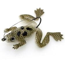 1pc Topwater Frog Lure For Bass Snakehead Freshwater Fish Soft Bait X5C7