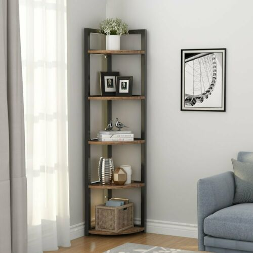 Multifunctional Corner Storage Shelf 5 Tier Storage Rack for ...
