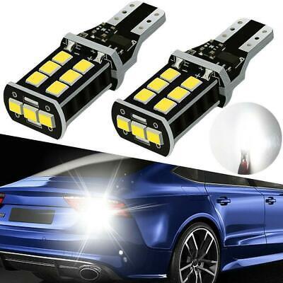 2 xSuper Bright White Canbus LED Bulb Car Backup Reverse-Light 912 921 T15 W16W