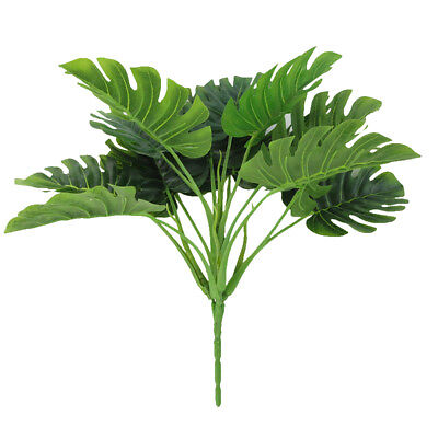 Fake Plants Artificial Greenery Tropical Shrubs Monstera Palm Leaves for Home](Fake Palm Leaves)