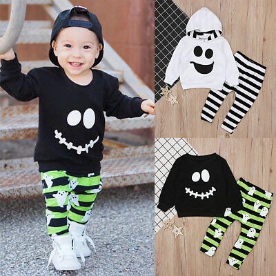 Ghost Fancy Outfits Costume for Toddler Baby Boys Top Pants Sets Halloween Party - Halloween Costumes For Baby Boys