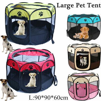 Best Pet Pet Dog Cat Tent Playpen Exercise Play Pen Soft Crate Large Sale!