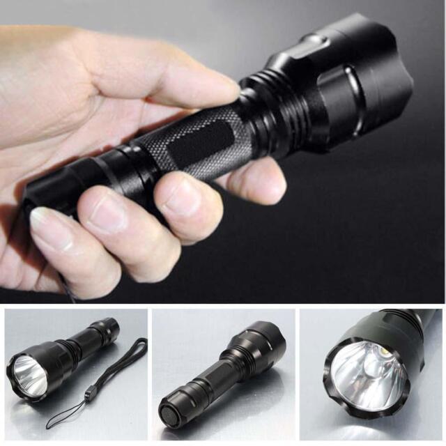 3000 Lumens  CREE XM-L C8 T6 LED Flashlight 18650 Torch Lamp Light BG