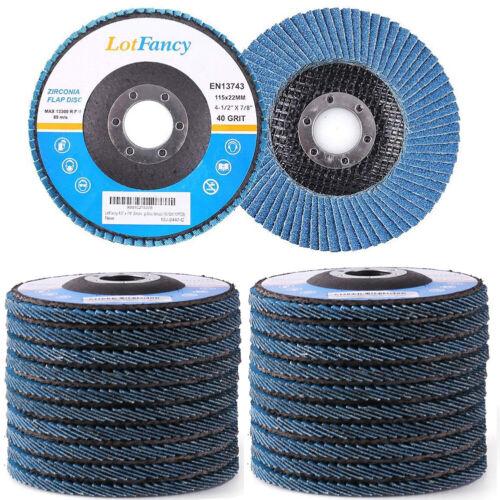"20PCS PREMIUM Zirconia Flap Discs 4.5"" X 7/8"" Sanding grinding Wheels 40 Grit US"