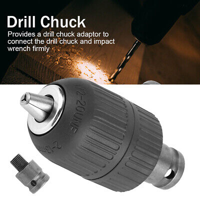 1//2-20UNF 1.5-13mm Impact Drill Chuck Mount Self Locking Keyless Metalwork Drive