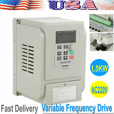 Ac220v 2hp 1.5kw 8a Vfd Variable Frequency Drive Inverter Controller Converter