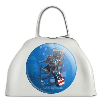 Classic Rockers Dogs Rocking Chair USA Flag White Cowbell Cow Bell Instrument
