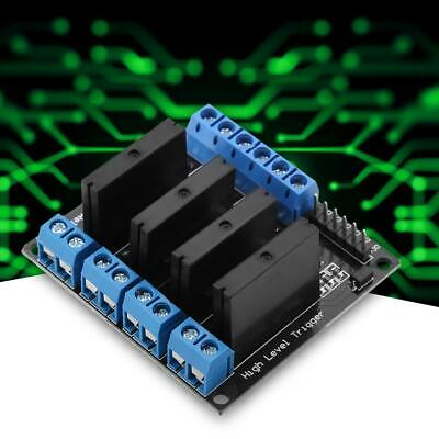 4 Channels Solid State Relay Module Board Dc-ac 5v High Level Trigger W Fuse 2a