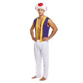 Mens Fancy Dress Costume Super Mario Toad Outfit