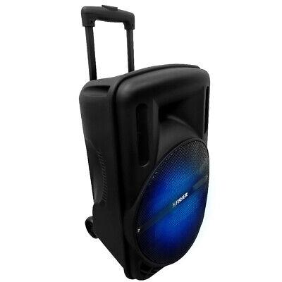Fisher 12-Inch Bluetooth Wireless Speaker System, Karaoke, Portable w/ AC Cord