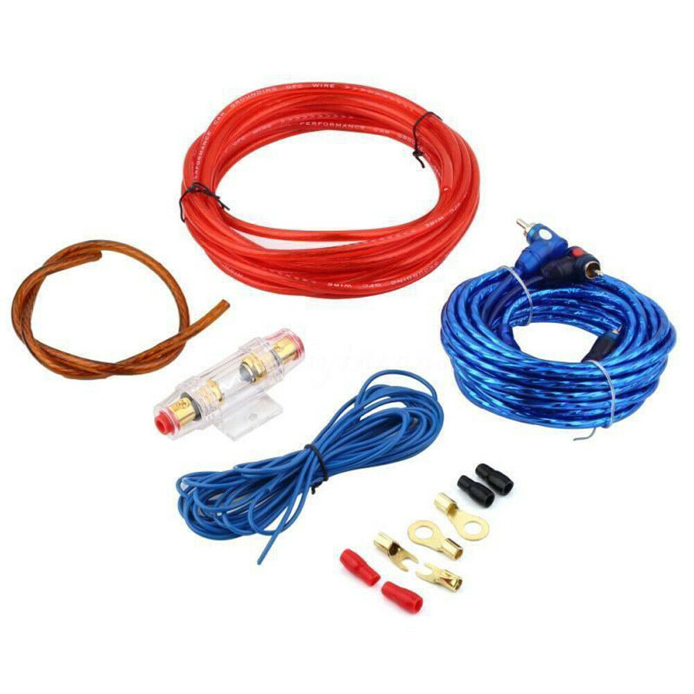 New 8GA Car Power Subwoofer Amplifier Audio Wire Cable Kit w