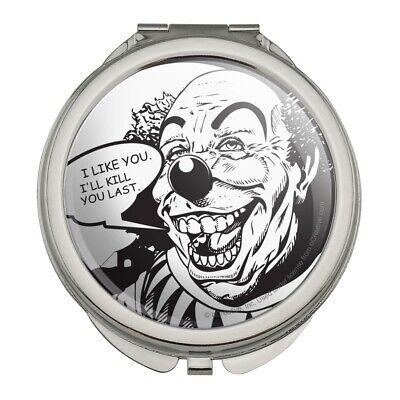 Scary Clown Mirror (Scary Clown I Like You Kill You Last Compact Purse Handbag Makeup)