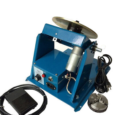 110v Rotary Welding Positioner Turntable Table Mini 2.5 3 Jaw Lathe Chuck Video