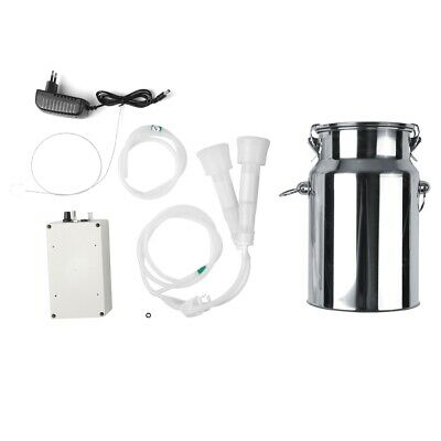 7l Electric Vacuum Milking Machine Cow Sheep Goat With Pulse Controller 240v