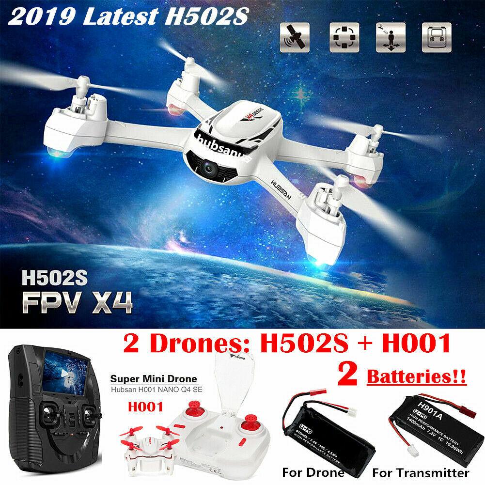 Hubsan H502S X4 Drone 5.8G FPV RC Quadcopter W/ 720P HD Camera GPS RTH,RTF+H001