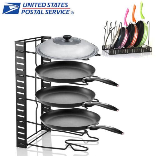 5 Layer Kitchen Cabinet Pan Rack Shelf Cookware Organizer Po