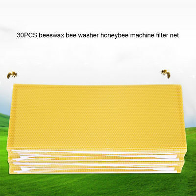 30 Honeycomb Wax Frames Beekeeping Foundation Honey Hive Equipment Bee Supplies
