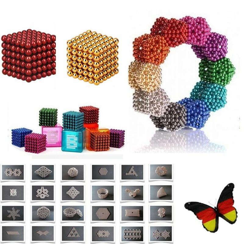 216 Stück 5mm Neodym Kugelmagnete Kugeln Magnete Bälle Magnet Stresskiller Ball