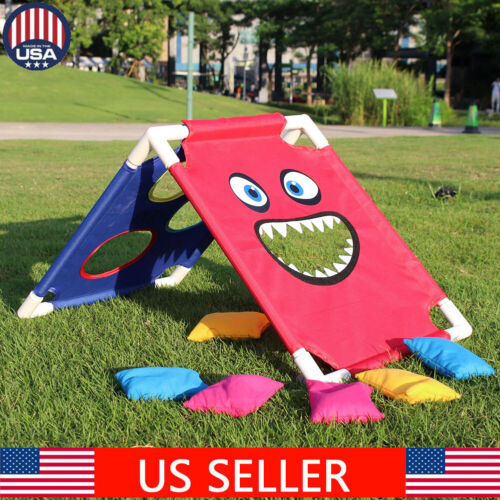 portable abs framed cornhole game set