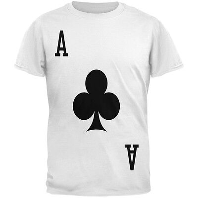 Halloween Ace of Clubs Card Soldier Costume All Over Adult T-Shirt](Ace Of Clubs Halloween Costume)