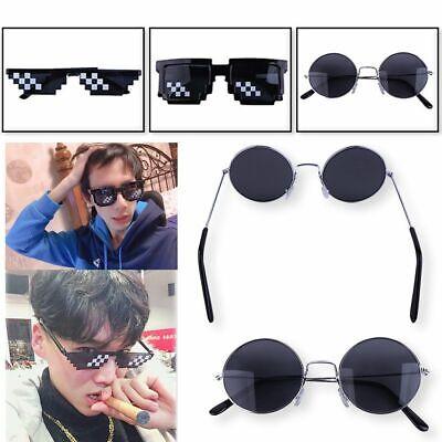 Thug Life Sonnenbrille Coole Sunglasses Unisex Pixel Brille Deal With IT Schwarz