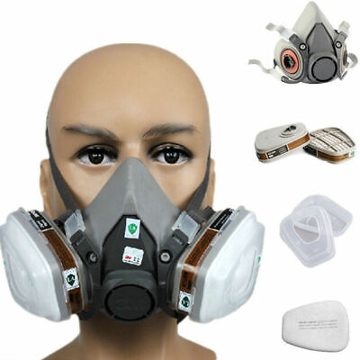 3m 6200 Premium Half Face Spray Paint Dust Mask Respirator Filter 7 In 1 Us