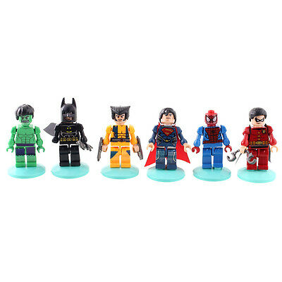 6X MINI Marvel The Avengers Hulk Figure Collection Kids Boy Animation Toys Gift