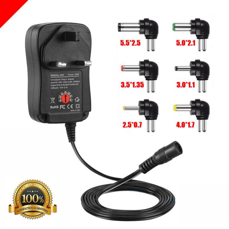 30W Adjustable AC//DC Charger Adapter Switch Power Supply 3V//4.5V//6V//7.5V//9V//12V
