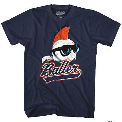 Major League Mohawk Baller Wild Thing Men's T Shirt Movie Logo Baseball Shades - Wild Thing Major League