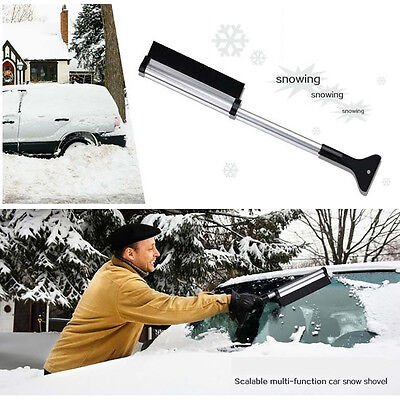 Snow Removal Brush Telescopic with Ice Scraper  Cleaning Fit Towel Sedan SUV