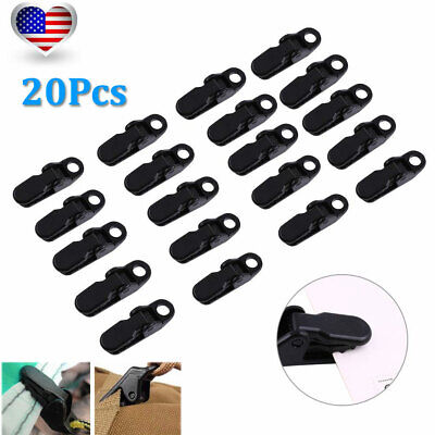 20Pcs Camping Awning Canopy Clamp Tarp Clip Car Boat Cover Emergency Tent