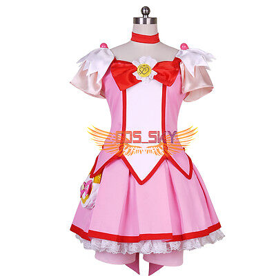 Smile PreCure! Glitter Force Hoshizora Miyuki Cure Happy Dress Cosplay Costume - Happy Cosplay Costume