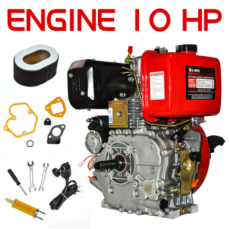 "10HP 411cc Diesel Engine 4 Stroke Single Cylinder 2 - 5/6"" Shaft Length in U.S"